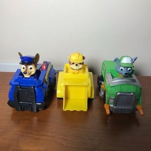 Lot of 3 Paw Patrol Toys - Chase, Rocky, & Rubble